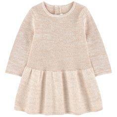 Sweater dress with lurex thread