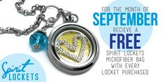 #Free Microfiber Bag with every Locket purchase from Spirit Lockets!
