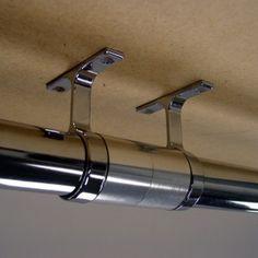 Good Cool Long Run Closet Rod Cuppler Connector Center Supports Sm
