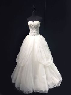bridal ball gown, wedding dress