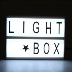 LED Lamp Box House Letter Sign Wedding Party Shop Home Living Room Decoration