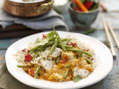Rotes Thai-Curry mit Jasminreis - smarter - Zeit: 40 Min. | eatsmarter.de