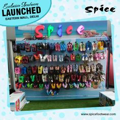 Exclusive Showroom Launched at Eastern Mall, Delhi !! Get more details at http://spicefootwear.com #footwear #shoes #sandals #floaters