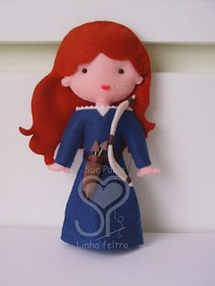 Brave felt doll- I have been working on the hair design for a hot minute!