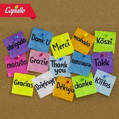 ¡Aprendamos a decir Gracias! Ejerzamos el valor del agradecimiento por las buenas cosas que tenemos y recibimos todos los días, por las experiencias y por poder compartirlas con los corazones que amamos. ¡Gracias por ser parte de la familia Capullo!