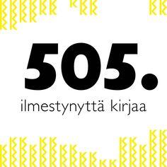 Keltaisessa kirjastossa on ilmestynyt 505 kirjaa. Montako olet ehtinyt lukea?nn#Keltainenkirjasto Company Logo, Logos, Historia, Logo