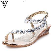 VTOTA Marca Sandalias de Las Mujeres Rhinestone Zapatos de Verano cuñas Resbalón En Zapatos de Mujer A Prueba de agua Zapatos Zapatos de La Boda del Partido de Las Mujeres 275