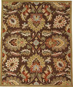 Brown 9' 10 x 13' 1 Floral Agra Rug | Area Rugs | eSaleRugs