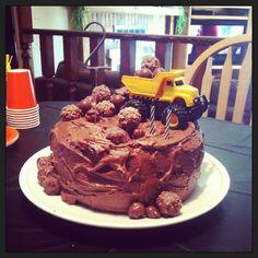 Tonka truck birthday cake!