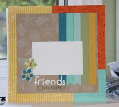 By the Seashore- stampin up!  cased a layout from the fiskars website and will use it for Layouts class.  #beachlayout #stampinup