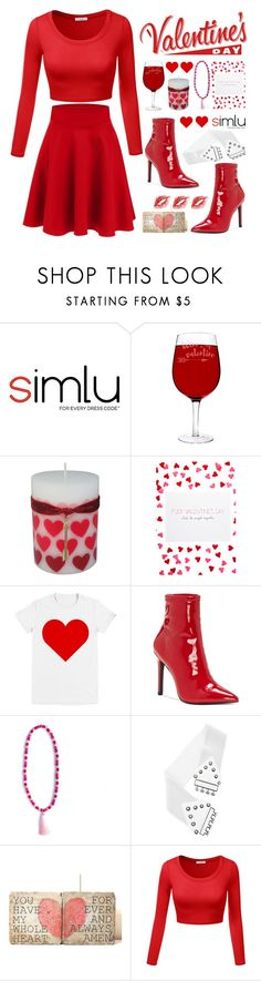 """""""Ready for Valentines.."""" by simlu-clothing on Polyvore featuring Cathy's Concepts, SuckyCards, Jessica Simpson, chic, red, stylish, valentinesday and simlu"""