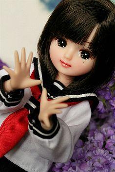 Licca Doll in school uniform