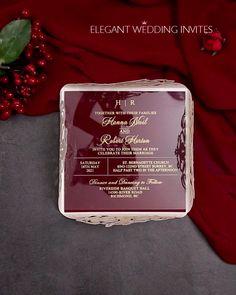 Velvet Wedding Invitations, Wedding Invitation Video, Acrylic Wedding Invitations, Country Wedding Invitations, Unique Wedding Invitations, Wedding Stationary, Invitation Card Design, Laser Cut Invitation, Wedding Cards
