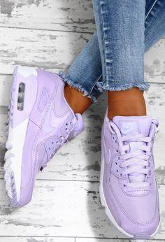 Nike Air Max 90 Purple Nike Air Max 90 Purple Sneakers  #purple #sneakers Purple Trainers, Purple Sneakers, Cute Sneakers, Sneakers Nike, Air Max 90, Keds, Nike Air Max Trainers, Purple Nikes, Nike Air Shoes