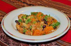 Kvinoa-keitto kanasta ja bataatista