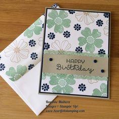 Image result for stampin up flower shop birthday cards