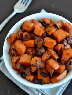 Bacon and Sweet Potato Skillet I NotEnoughCinnamon.com