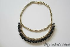 GOLD AND BLACK NECKLACE | MY WHITE IDEA DIY