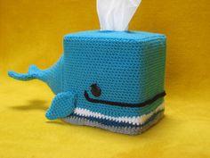 Whale tissue box cover cozy animal amigurumi crochet pattern