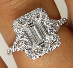 Timeless GIA Estate 2.26ct ct Emerald Cut Diamond  Engagement Wedding Anniversary PlatinumRing by TreasurlybyDima on Etsy https://www.etsy.com/listing/205077987/timeless-gia-estate-226ct-ct-emerald-cut