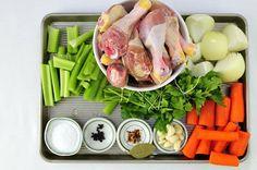 Chicken Stock Recipe - Hanielas