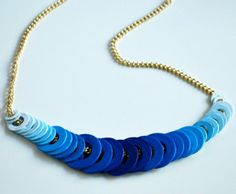 Ombre Washer Necklace | AllFreeJewelryMaking.com