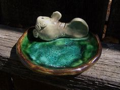 Manatee Soap Dish by Dragonware on Etsy, $20.00