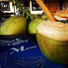 Virgin coconut at 7SEAS Garden Cafe #giliair #coconut #fruit #foodlover #giliislands #lombok #lombokisland #mylombok #thegiliguide #gililife #holiday #food #travel #instatravel #instagood #indonesia #discoveringindonesia #bestfood #healthy #healthyfood #coconutpower #lunchoverthesea #weekend #newbali