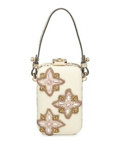 Embellished Canvas Minaudiere, Natural by Tory Burch at Neiman Marcus. Embellished  Purses, Purses c6f1cada0f