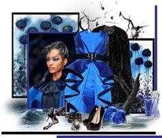 """B - Black and Blue...."" by carola-corana ❤ liked on Polyvore"