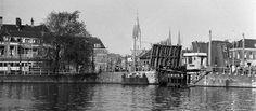Rotterdamsepoortbrug / van de Hooikade - 1957 - Delft