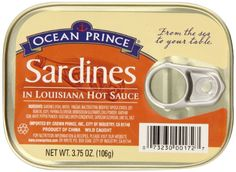 Ocean Prince Sardines in Louisiana Hot Sauce, 3.75 Ounce Cans (Pack of 12) *** New and awesome product awaits you, Read it now : : Quick dinner ideas