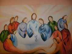 Last Supper Art, Good News Today, Christian Paintings, Overcome The World, Corpus Christi, Bible Art, Learn To Paint, Religious Art, Beautiful Paintings