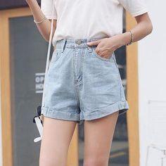 YesStyle - HotBlock Denim Shorts - AdoreWe.com