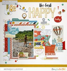 creating {non}sense: Another Scraptastic Layout - Happy Today