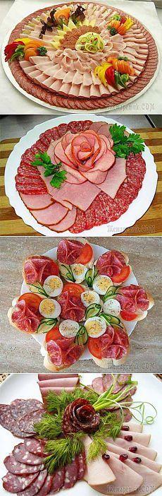Немножко идей для праздничного оформления закусок | Домашняя кулинария