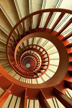 Stunning photograph of spiral stairs in the British Columbia Cancer Research Center in Vancouver.