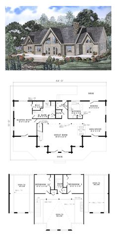 1000 images about log cabin home plans on pinterest for Cool houseplans com
