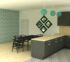 Kitchen modern corona kitchen ad decor cabinets furniture for Table design sketchup