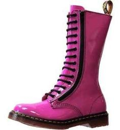Pretty in pink doc martens. Love this color. Whatshername boots!!! :)