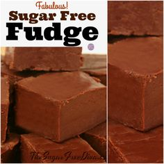 Enjoy this Fabulous Sugar Free Fudge recipe that is simple to make as well. This fudge is delicious and it has not added sugar to the recipe. Sugar Free Deserts, Sugar Free Fudge, Sugar Free Peanut Butter, Sugar Free Baking, Sugar Free Candy, Sugar Free Sweets, Sugar Free Cookies, Sugar Free Chocolate Chips, Sugar Free Recipes