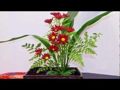 How To Arrange Flowers: Ikebana Flower Arrangement! - YouTube