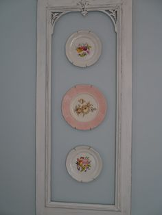 Plates on wall/might also be nice with interior of framed area painted a second color.