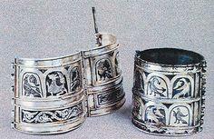 Old Russian Bracelet. Kyevan Rus'. Silver, niello, 12th century. .