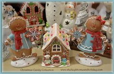 Candy colored and themed Christmas decorations from the By Theme:Christmas Candy page found at www.shelleybhomeandholiday