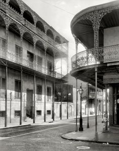 Corner of Dauphine and Orleans streets, French Quarter, New Orleans.