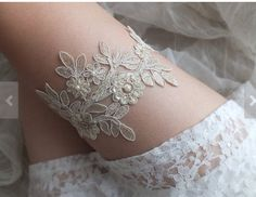 Bridal garter available @ www.miaelenabridalboutique.com