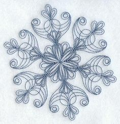 Intricate Snowflake D Embroidered Flour by EmbroideryEverywhere
