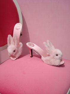 High heel Bunny Slippers... just one time I'd like to answer the door wearing these!!  Love!  : )