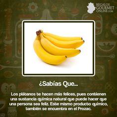 ¿#SabíasQueLos plátanos te hacen más felices?#Curiosidades#Gastronomía